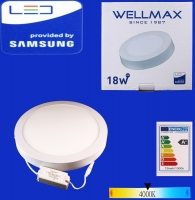 Electric ceiling LED Wellmax round exterior 18W 4000K