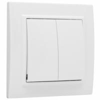 Անջատիչ 2 ստեղնակով CP 10A սպիտակ EKF BASIC MINSK