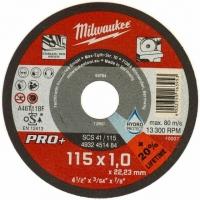 Մետաղական կտրող սկավառակ Milwaukee 115*1*22,23mm