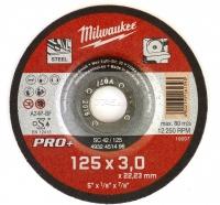Մետաղական կտրող սկավառակ Milwaukee 125*3*22,23mm