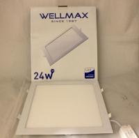 Էլ.պլաֆոն LED Wellmax քառակուսի 24W 6500K