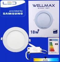 Էլ.պլաֆոն LED Wellmax կլոր 18W 4000K