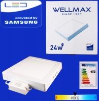 Էլ.պլաֆոն LED Wellmax քառակուսի արտաքին 24W 4000K