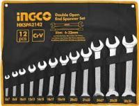 Երկկողմանի բաց բանալիների հավաքածու 12 կտոր՝ 6-32մմ INGCO HKSPA2142