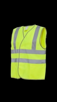 Signal safety vest with pocket
